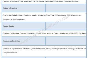 Examination Form Format