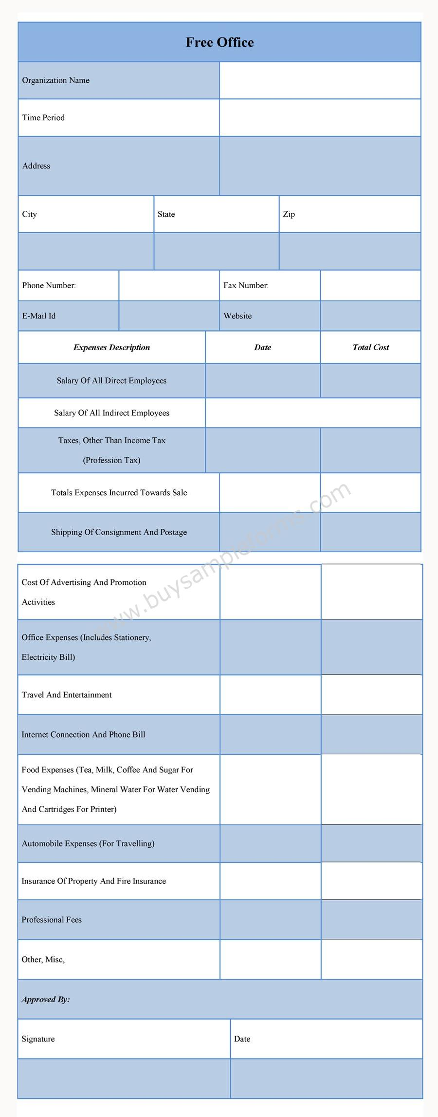 free office forms online