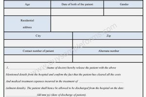 Hospital Patient Release Form