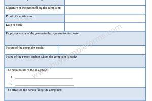 HR Complaint Form