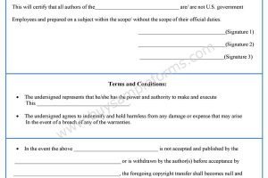 Intellectual Property Copyright Form