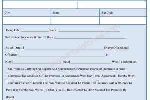 Landlord Template Form