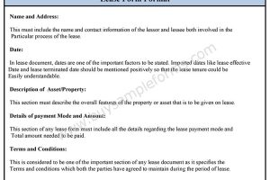 Lease Form Format