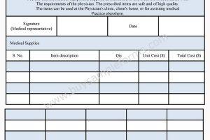 Medical Order Form