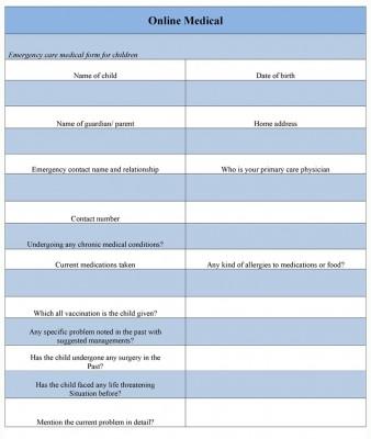 Online Medical Form