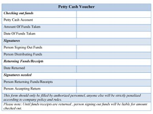 Petty Cash Voucher Form