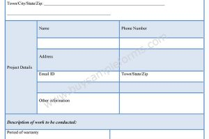 Sample Contractor Form