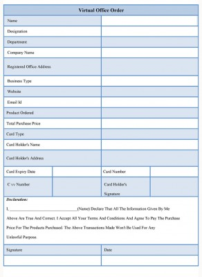 Virtual Office Order Form