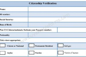 Citizenship Verification Form
