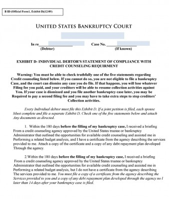 Free Bankruptcy Forms