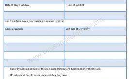 Free Complaint Form