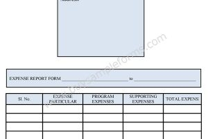 Free Expense Form