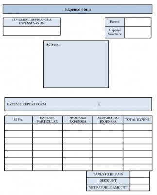 Sample Free Expense Form