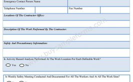 General Contractor Safety Form