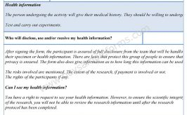 Medical Research Consent Form