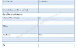 Office Complaint Form