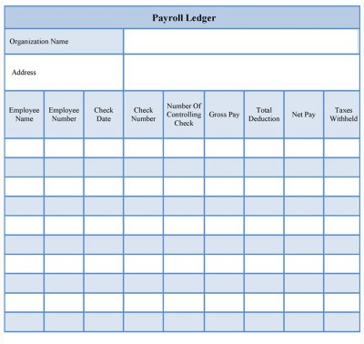 Payroll Ledger Form