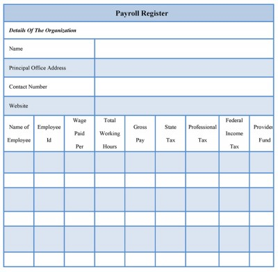 Payroll Register Forms