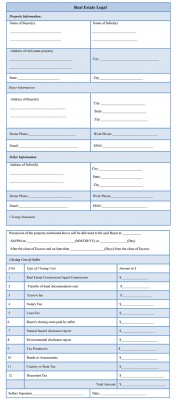 Real Estate Legal Form