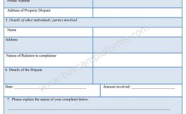 Residential Complaint Form