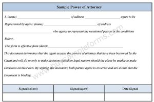 Sample Power of Attorney Form