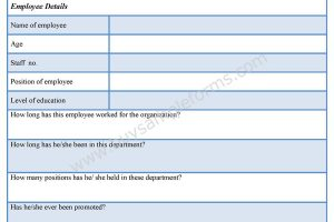 Staff Appraisal Form Format