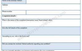 Student Complaint Form
