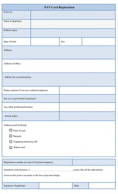 PAN Card Registration Form
