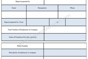 Employee Report Form