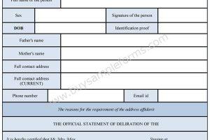 Address Affidavit Form