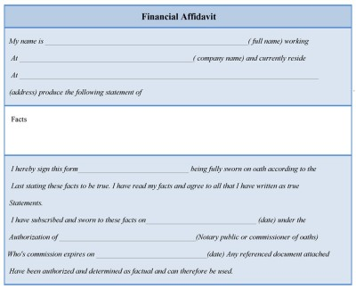 Financial Affidavit Form