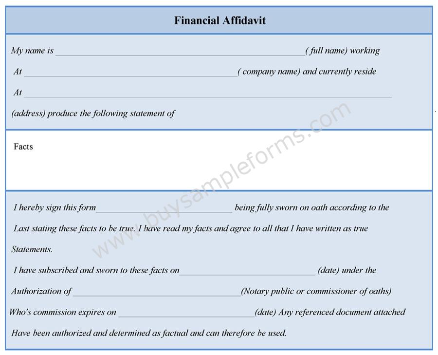 Financial Affidavit Form