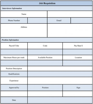 job requisition form examples