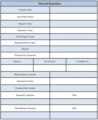 material requisition form template