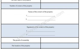 Property Tax Form