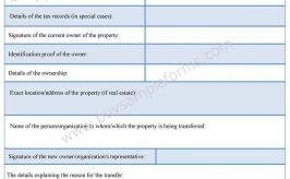 Property Transfer Affidavit Form