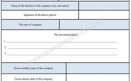 Sales Tax Form