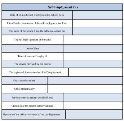 Self Employment Tax Form