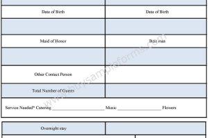 Wedding Reservation Form