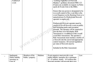 Event Risk Assessment Form