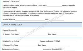 Financial Verification Form