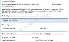 Financial Verification Form