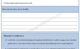 Student Loan Disability Form