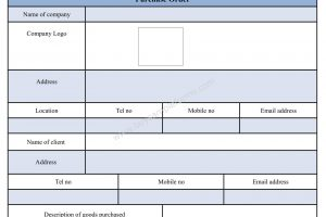 Purchase Form Template in Word Documents