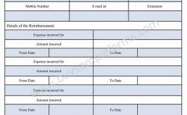 Employee Reimbursement Form