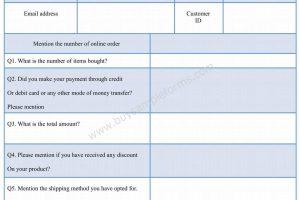 Online Receipt Form Template