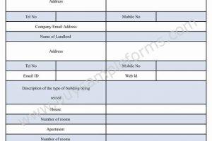 Rent Receipt Form Word Document