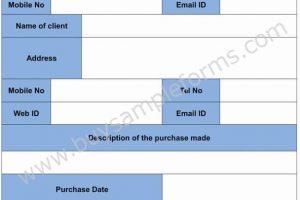 Sales Receipt Form Template