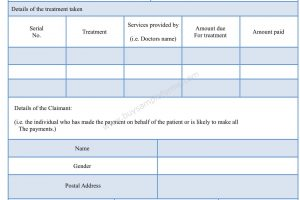Medicare Reimbursement Form