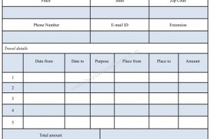 Travel Reimbursement Form Template Word